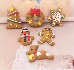 Sıcak Ev Şenlikli Mini Gingerbread Man Noel Süsler Geyik Kardan Adam Chrismas Ağacı kolye Dekorasyon Yılbaşı Dekor Parti Malzemeleri