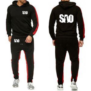 Para SÃO Sword Art Online Impresso Hoodies Homens Streetwear Casual camisola Harajuku Moda Men Hoodies terno de calças 2pcs K