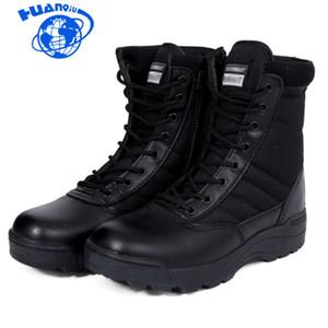 Huanqiu 2018 nuevas botas de cuero para hombres estadounidenses de combate de infantería bot bot Askeri zapatos robots de ejército del ejército ZLL80