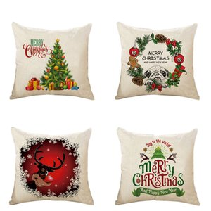 Throw Pillow Cover 18 x 18 Inches Set of 100 Christmas Series Cushion Cover Case Pillow Custom Zippered Square Pillowcase