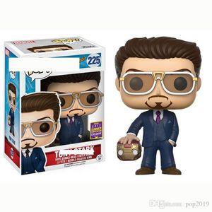 Decoración de Oficina Mano FUNKO POP Spider-Man héroe Volver Modelo de Tony Stark Nº 225 Iron Man PVC modelo muñecas regalos de juguetes