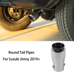 Stainless Steel Muffler Car Rear Round Tail Pipes For Suzuki Jimny 2019+ Factory Outlet Car Exterior Accessories