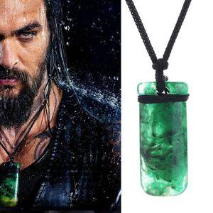 2019 Nouveau Aquaman Maori Toki imitation Jade bâton collier pendentif chandail Superhero hommes Ewelry Justice League Cosplay Props gros
