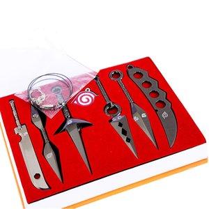 7Pcs / Set сплав Игрушка Мечи Военного нож Naruto Хатака Какаши Дейдар KUNAI Shuriken Фигура Оружие игрушка косплей игрушка Мальчик подарков