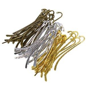 Antik Bronz / Altın / Gümüş - Okuma Mücevher Craft kolye Asma Yapımı için 60 Adet Düz imleri Kağıt imleri
