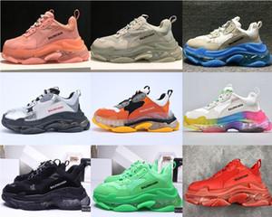 Triple S Limpar Sole Formadores Sapatos casuais Paris Balenciaga Sneaker Limpar bolha Midsole Designer de luxo Homens da forma das mulheres de alta qualidade
