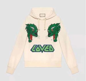 20SS algodão casuais moda mens designer de outono de luxo carta AMEI hoodies lobo animal print moleton com capuz