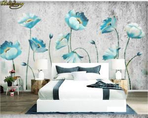 beibehang papel de parede Custom 3d wallpaper mural hand-painted European flowers modern minimalist decorative painting