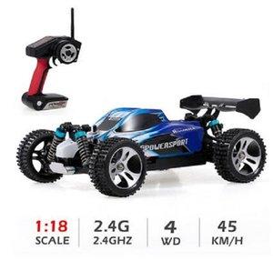 2020 Nova Wltoys A959 01:18 RC Car Vehicle 2.4Ghz Off Road 4WD 45KM / H alta velocidade Corrida Buggy Car RTR