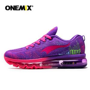 Onemix Uomo Donna Scarpe da corsa Bianco Grigio Viola Nero scarpe da tennis di marca vengono con la scatola Size 36-47