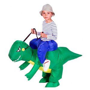 Взрослый Надувной костюм динозавр костюмы T REX взорвать маскарадный костюм талисман косплей костюм для мужчин женщин дети Дино мультфильм