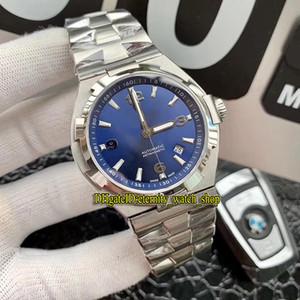 Azul dial de la fecha de Japón Miyota caja de acero Relojes de ocio de la alta calidad de ultramar P47040 / 000A-9008 8219 para hombre reloj automático de la correa de acero 316L