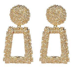 Gold Silber Geometrisches Statement Ohrring Metall Tropfen-Ohrring hängende Art und Weise der große Weinlese baumeln Ohrringe für Frauen-Schmucksachen