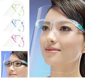 Hohe Qualität Gesichtsschild DIY transparent klar 5 farben Anti Staub Nebel Sperattne Nebel Küche Ölspritzen Schutz Anpet Gesichtsmaske