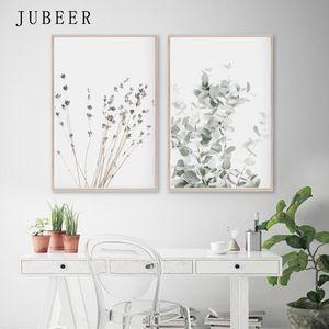 Evi Duvar Dekoru Sanat Resimleri Yatak Odası Dekorasyon İskandinav Decor Boyama Lavanta Okaliptüs Posterler Botanik Tuval