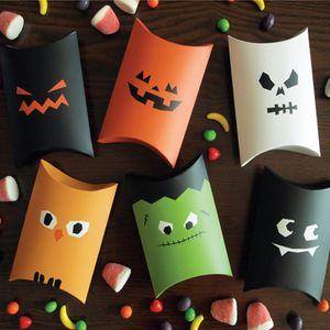 لطيف أحمق هالوين هدية مربع الحلوى وسادة مربع مخصص الإبداعية التفاف هدية مربع هالوين deocration ورق التغليف هدية التفاف