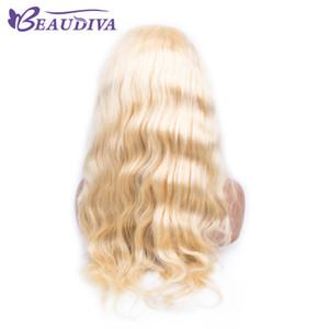 Beau Diva 613 Sarışın Dantel Ön İnsan Saç Peruk Bebek Saç Ile 4X4 13X4 Dantel Kapatma Dantel Frontal Peruk Remy Saç Peruk