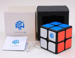 Original Gan249 V2M 2x2x2 Magnetic Magic Cube puzzle 2x2 velocidade Cube Gan Air Gan 249 V2 M profissionais brinquedos educativos para crianças Y200428