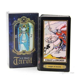 Olographic Tarot Board Game Shine White Tarot Cards Game Chinese / Inglese Edition Tarot Board Game DHL