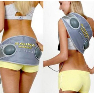 2 En 1 Sauna Chauffage Ceinture De Massage Vibrant Électrique Fat Burning Belly Trainer Abdomen Stimulateur Musculaire Perte De Poids Shaper