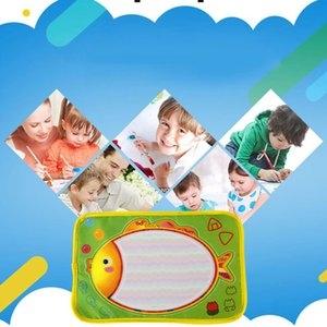 OCDAY Fun Kids Baby Add Water Write Draw Paint Water Drawing Canvas Magic Doodle Mat With Magic Pen Brushes Gift Christmas New