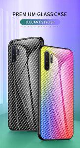 Fibra de Carbono Graded vidro temperado caso luva protetora para iphone11 Nota 9s 8 Pro tampa traseira para Xiaomi redmi Nota 9 11 Pro Max