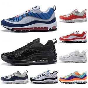 Nike air max 98 con calzini gratuiti 2019 Scarpe da corsa di moda Sneakers per uomo Scarpe sportive OG Gundam Scarpe da trekking da uomo nere da trekking taglia eur40-45