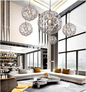 Yaratıcı kişilik yatak restoran bar avize merdiven giyim mağazası poligon geometrik elmas topu lambalar