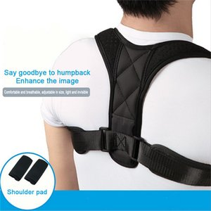 Corrector de Postura ajustable ayuda del apoyo trasero de la correa de hombro clavícula espina dorsal lumbar postura corrección Efecto Anti-jorobada