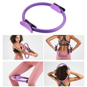 Yoga Cercle Double Grip Pilates Anneau Sport anneau magique Femmes Résistance Fitness Musculation Cercle Gym Pilates Workout 2020