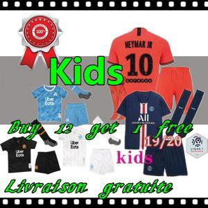 2019 2020 psg Kinder Kit Fußball Jerseys 19 20 Mbappe maillot de foot Kind paris Kinder-Fußballhemd-Kits