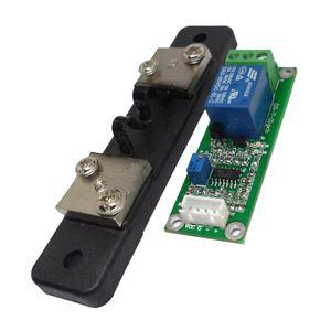 DC20A 5V Courant Shunt capteur - Courant de détection du capteur Module - Relais de sortie - surintensités court-circuit Protection Vert + Noir