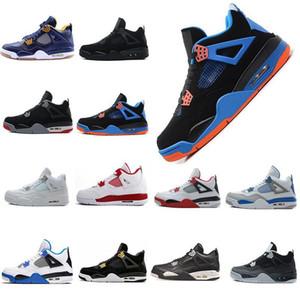 2019 Nouveaux Chaussures 4 IV Eminem Basketball Hommes Black Denim Invaincu Encore Bleu Vert Olive Mens Version Taille gros 41-47 US 8-13