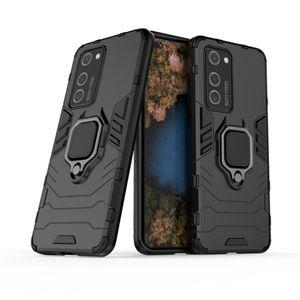 Blindaje de doble capa caso 360 Titular Grado anillo giratorio pata de cabra cubierta a prueba de golpes para Huawei P40, P40 PRO, P40 Pro Plus, Y7P 40 E LITE