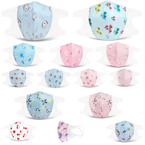 kids disposable 3D three-dimensional kid masks dustproof and breathable multi-layer protective infant masks with melt-blown cloth spot