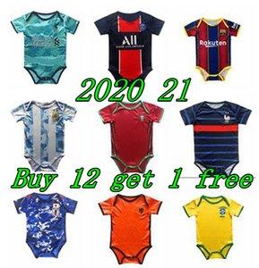 2020 2021 New jersey bébé jersey pour BB 6-18 mois chemises de football de football des enfants Maillots