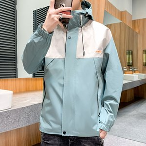 High Quality 2020 New Fashion Men's Spring Hooded Casual Jacket Windbreaker Coat Slim Fit Clothing