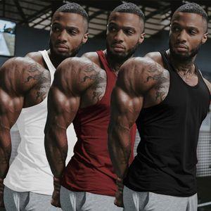 Mens Singlet T Camisola Regata Colete Homem Muscular Quick Dry Coletes Conforto Solto Piloto Y Voltar Musculação Treino de Algodão Sportswear