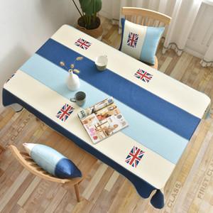ماء سماط هندسية المشارب الأزرق الجدول القماش المتوسطية نمط غطاء الطاولة المستديرة القماش الطباعة سماط المنزل