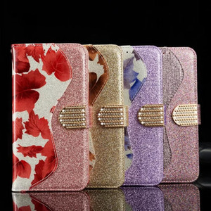 Luxury Diamond Buckle Flip Wallet Card Slot Maple Leaf Bling Glitter Leather Case Cover For iPhone 11 Pro XS Max XR X 8 7 6 6S Plus
