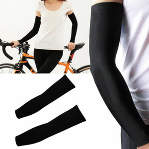 Cycling Sport Skin Unisex Riding Cooling Arm Sleeves Cover UV Sun Protection Basketball Sport Black
