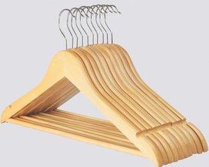 Multi-fonctionnelle Costume en bois Cintres Armoire Vêtements de rangement Hanger fini naturel Vêtements pliant solide Etendoir Vêtements