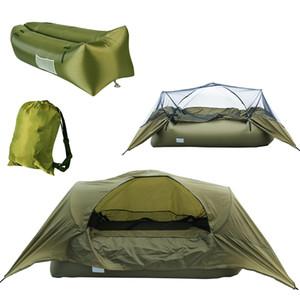 Açık Kamp Tek Şişme Uyku Mat Çadır Ultra Hafif Cibinlik ile Katlanabilir