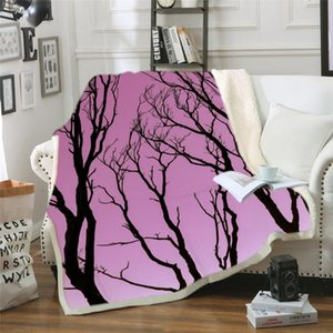 Landscape Tree Blanket Mat Tapestry Soft Warm Travel Cover Bedspread Beach Towel Mat Blanket Table