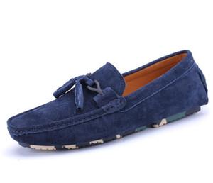 Mens echtes Leder-Schuhe aus Wildleder Loafer Ketten offiziellen Schuhe sanft Herren reisen zu Fuß Schuh lässigen Komfort Atem Schuhe für Männer zy899 Knoten