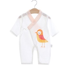 Baby Kimono Spring and Summer Thin Newborn Cotton Gauze Newborn Clothes Jumpsuit Kimono Baby Climbing Suit