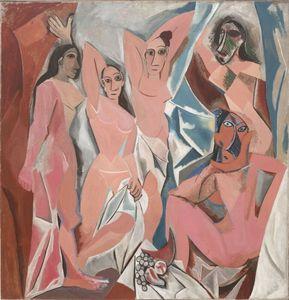 Pablo Picasso Les Demoiselles d'Avignon GROSSER Wohnkultur Handwerk / HD-Druck-Ölgemälde auf Leinwand-Wand-Kunst-Leinwandbilder 200404 02