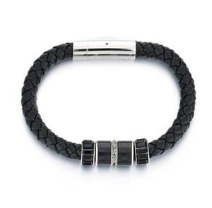 316L Titanyum çelik Erkekler erkekler kadınlar için manyetik toka deri örgü bilezik bileklik charm bilezik mücevher