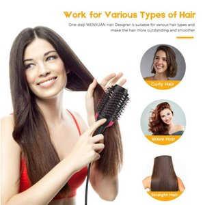 Hair Dryer Brush Air Brush One Step Styler Multifunctional Straightening Hair Curly Comb with Negative Ions for All Hair Types