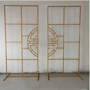 Chinese wedding props, iron screen, wedding stage background decoration, iron frame, welcome area, flower frame ornaments